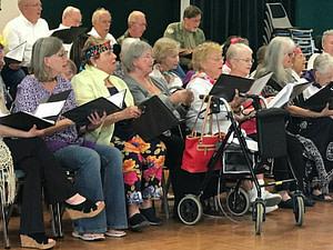 Off Key Chorale Nancy Jones center wheelchair